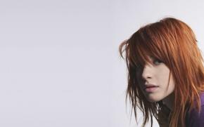 Wallpaper girl, music, music, singer, red, girl, paramore, hayley williams, photoset, Hayley Williams, pop-rock, pop-rock