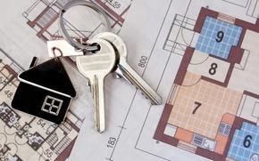 Picture macro, mood, house, keys, keychain, construction, housewarming
