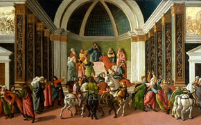 Wallpaper picture, mythology, Sandro Botticelli, History Of Virginia