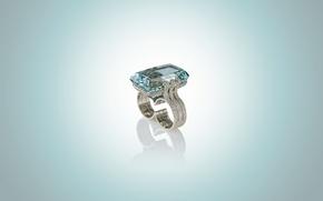 Picture stone, ring, Ucrania, Topaz