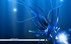 Wallpaper energy, blue, glow
