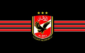 Picture red, logo, white, black, yellow, egypt, ahly, alahly