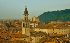 Picture building, tower, home, roof, Italy, Italy, Gorizia, Friuli-Venezia Giulia, Gorizia, Friuli Venezia Giulia