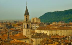 Wallpaper building, tower, home, roof, Italy, Italy, Gorizia, Friuli-Venezia Giulia, Gorizia, Friuli Venezia Giulia