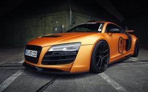 Picture auto, machine, Audi, street, orange