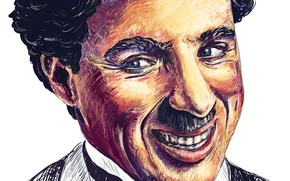 Picture face, smile, actor, Charlie Chaplin, Charlie Chaplin