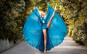 Picture dance, dress, ballerina, alley, Pointe shoes