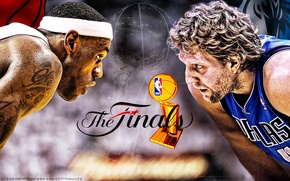 Wallpaper Miami, basketball, 2011, James, nba, finals, Nowitzki, Dallas, Heat, Mavericks, LeBron, Dirk