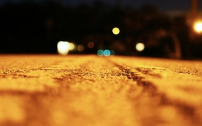 Picture road, macro, light, night, light, road, night, macro, bokeh, 1920x1080, bokeh effect