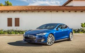Picture Model, Tesla, Vossen, Silver, Wheels, VFS-1