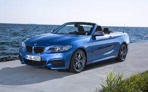 Picture blue, coast, BMW, convertible, M235i, F23