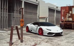 Picture Lamborghini, Front, White, Supercar, Huracan, LP610-4, Vellano MC
