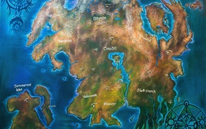 Picture Skyrim, Map, The Elder Scrolls, Valenwood, Tamriel, Cyrodiil