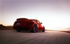 Picture road, auto, speed, Nissan, 370Z