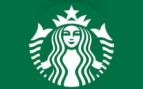 Picture green, coffee, emblem, logo, coffee, Starbucks
