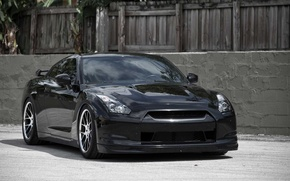 Picture wall, black, Nissan GTR