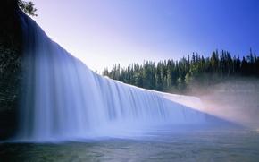 Picture lake, tree, waterfall