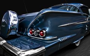 Picture retro, Chevrolet, classic, Impala, 1958