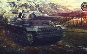 Picture Game, Games, World of Tanks, Wargaming Net, Panzer III, FuriousGFX