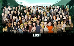 Wallpaper figure, LOST, heroes