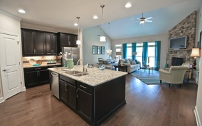Picture design, style, room, interior, kitchen, living space