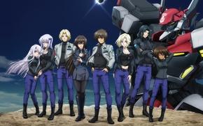 Picture girls, robot, guys, Mobile Suit Gundam