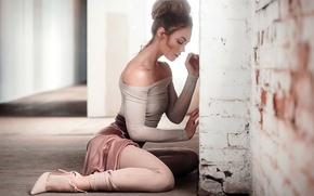Wallpaper girl, pose, background