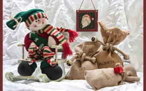 Picture gifts, snowman, bags