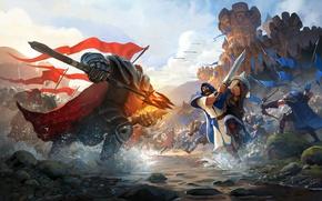 Wallpaper Game, Albion Online, Battle