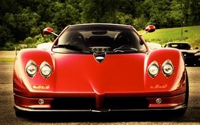 Picture red, red, Pagani, roadster, zonda, probe, Pagani, c12