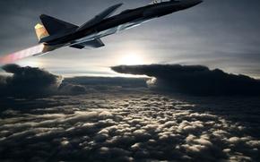 Picture flight, the plane, SU 37