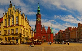 Picture home, area, Poland, town hall, Wroclaw, Breslau, Wroclaw