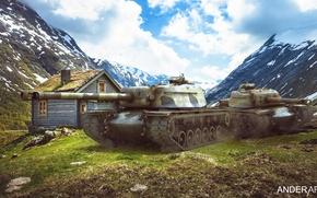 Picture Wallpaper wot, т110е4, world of tanks обои, t110e4