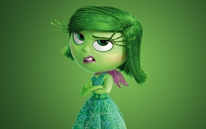 Picture flowers, 2015, Walt Disney Studios Motion Pictures, Disgust, adventure, five emotions, dress, face, girl, hana, ...