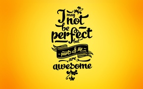 Picture cool, awesome, typography, quote, minimalism, Yellow