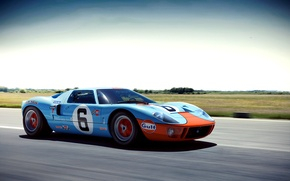 Picture speed, Ford, blue, Wheelsandmore, front, GT40