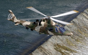 Picture river, Italy, helicopter, Power, flies, the threshold, multipurpose, Agusta, easy, With, АW109