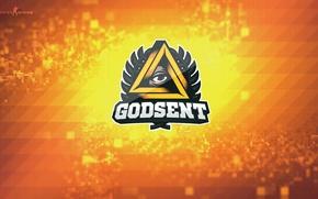 Picture godsent, counter-strike, esports, pixels, cs go, team, csgo, global offensive, bokeh, logo