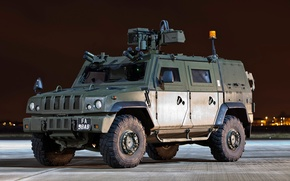 Picture machine, the evening, car, team, connection, armored, CLV Panther