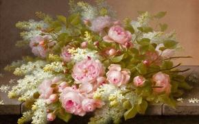Picture flowers, roses, beauty, bouquet