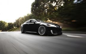 Picture black, Lexus, black, Lexus, front, IS250