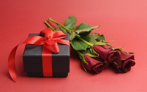 Picture love, flowers, gift, romance, roses, red, romantic, gift, roses