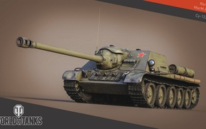 Picture tank, USSR, USSR, tanks, WoT, World of tanks, SU-122, tank, World of Tanks, tanks, Wargaming.Net, ...