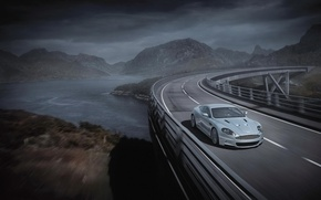 Wallpaper road, bridge, grey, Aston Martin, Aston Martin
