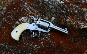 Picture metal, wood, Ruger, revolver, gun fire