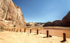 Picture sand, the sky, mountains, lake, desert, valley, AZ, Utah, USA, USA, Sky, Rock, desert, Arizona, …