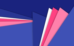 Picture line, blue, pink, geometry, raspberry, material