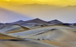Picture CA, USA, Death Valley, flat sand dunes