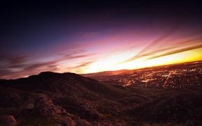 Picture dawn, Urban, sunset