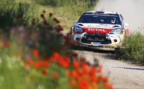 Wallpaper Flowers, Sport, Machine, Citroen, Day, Citroen, Lights, DS3, WRC, Rally, Rally, The front, Total